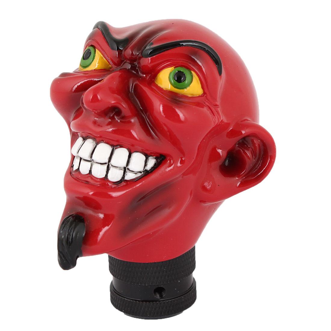 Red Plastic Smiling Face Design Auto Car Gear Stick Shift Knob Shifter Cover