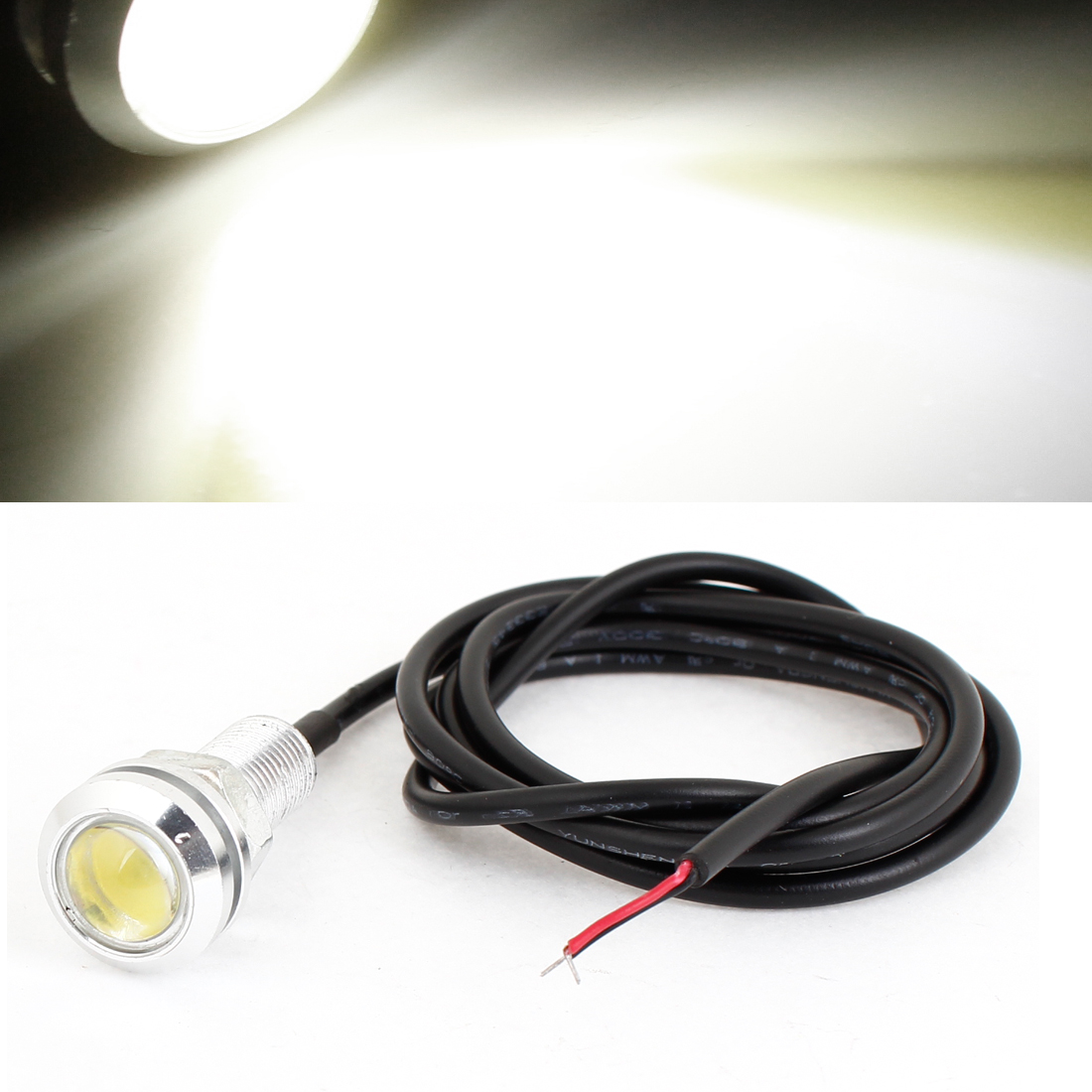 Car Automobile White LED Light Lamp Reverse Taillight Tail Foglight DC 12V