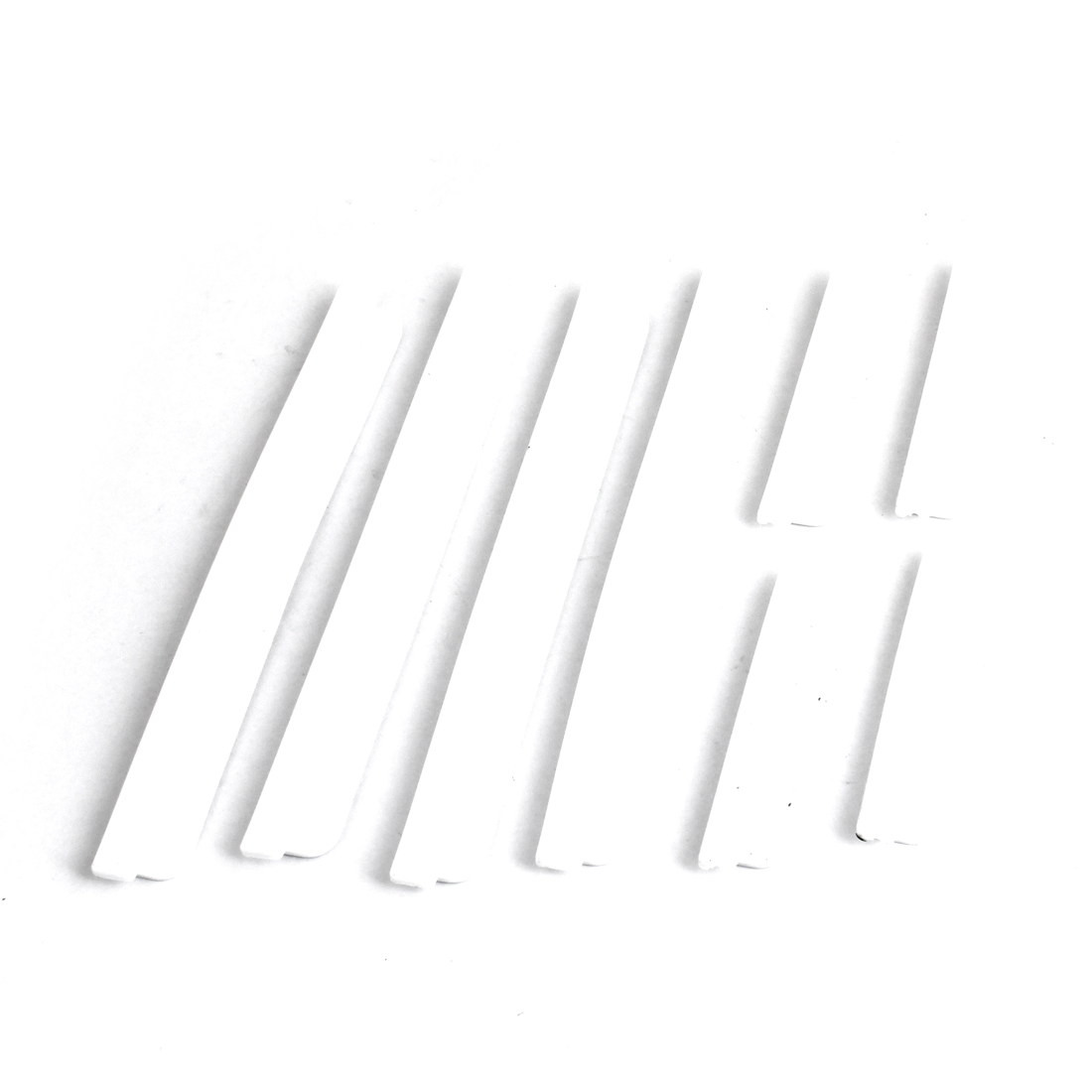 8PCS Soft Plastic Bumper Protection Guards White for Automobile Car