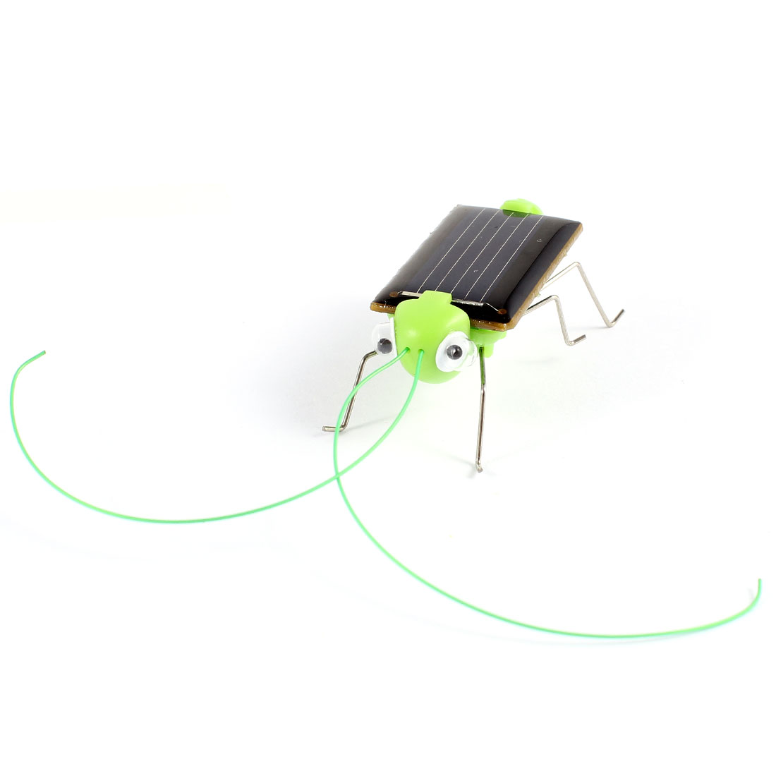 Green Plastic Mini Grasshopper Shape Solar Power Toy for Chlidren