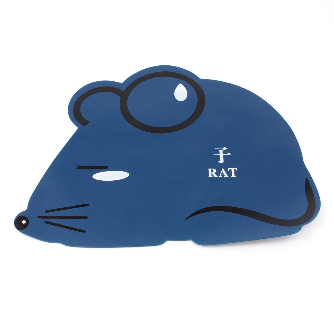 Desktop Chinese Zodiac Cartoon Rat Design Rubber Mouse Pad Mat Black Dark Blue