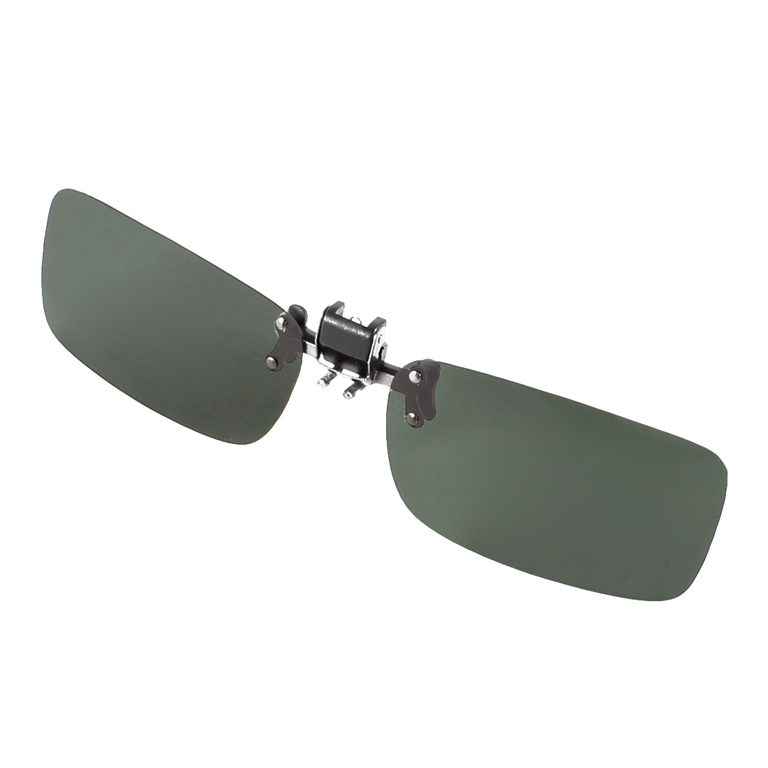 Eye Protection Clip on Glasses Dark Green Flip Up Polarized Lens Sunglasses