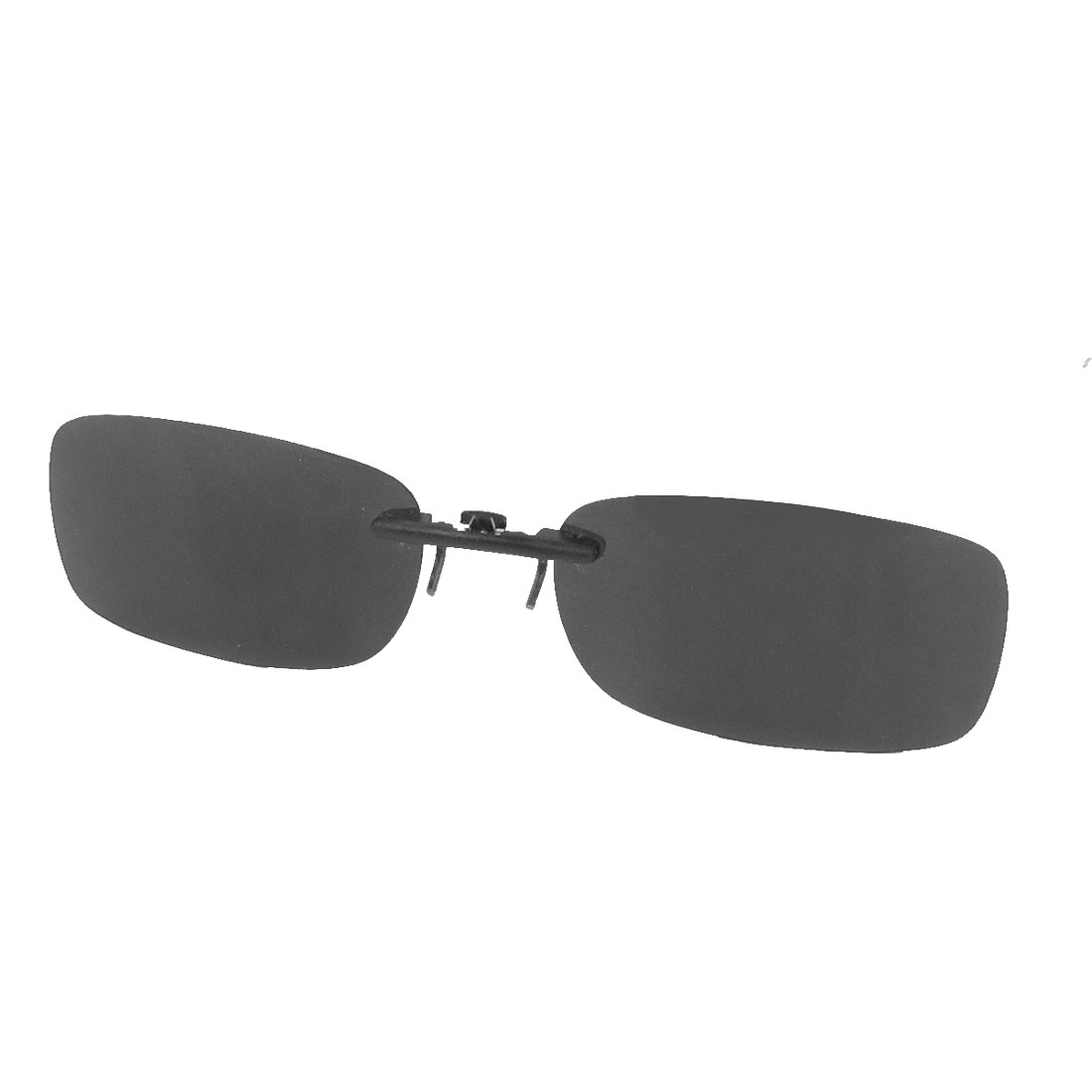 Unisex Clear Gray Polarized Lens Pull Type Spring Design Sunglasses