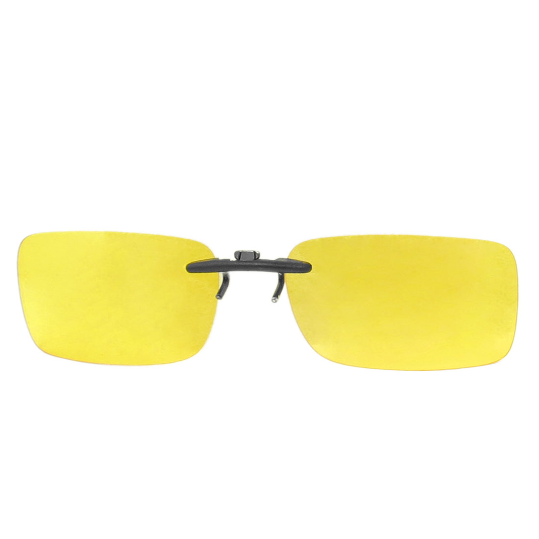 Unisex Clear Yellow Plastic Polarized Lens Solar Shield Glass Sunglasses