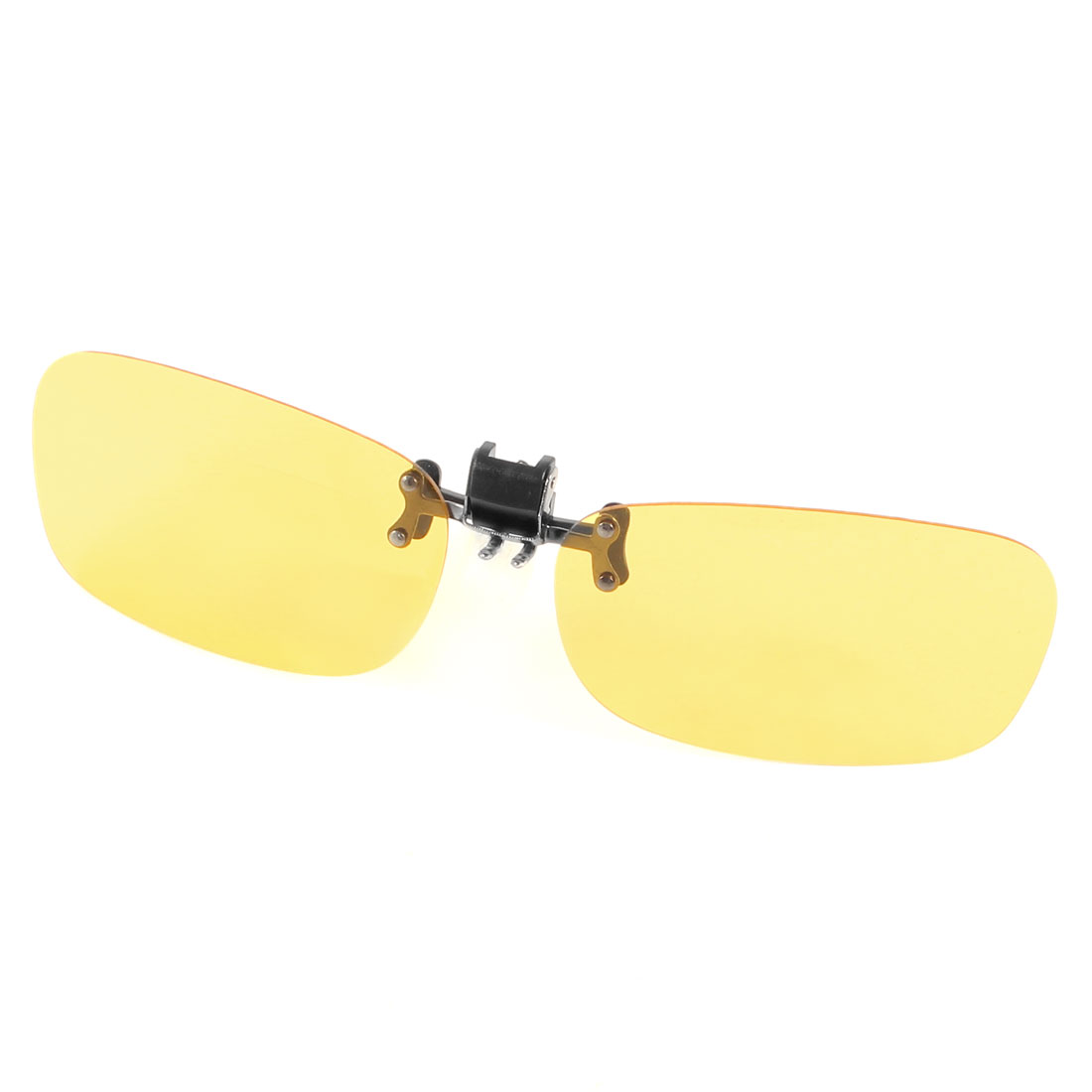 Outdoors Sports Leisure Rimless Clear Yellow Lens Clip on Polarized Sunglasses