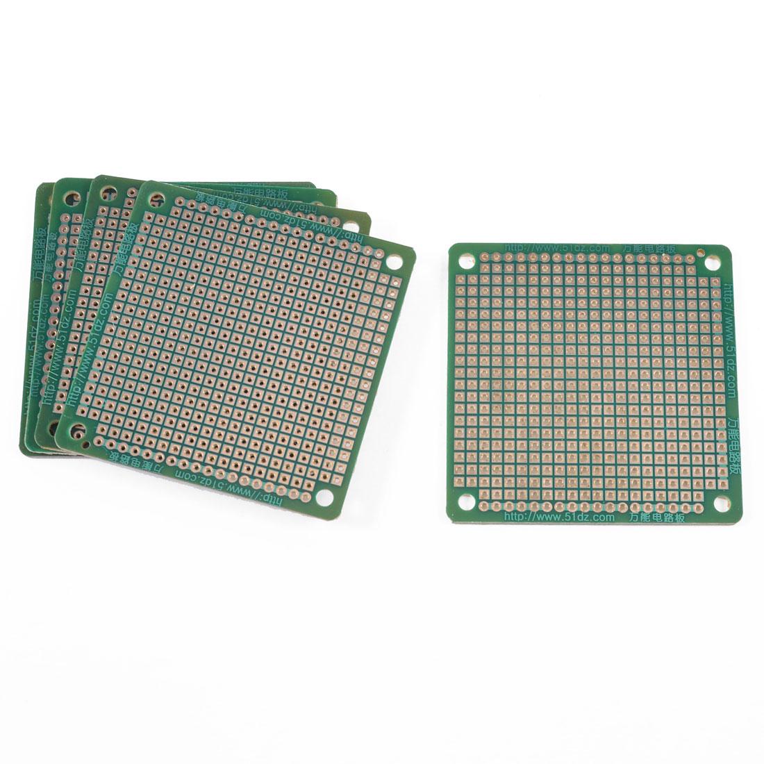 5 Pcs 6cm x 6cm Solderable Prototype Universal PCB Circuit Board