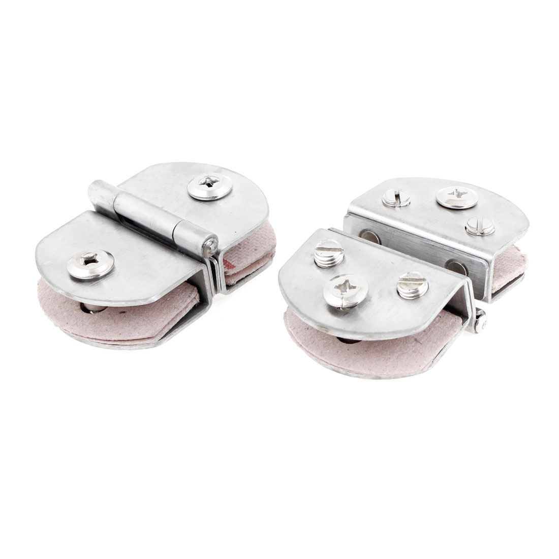 Bathroom Silver Tone Stainless Steel 13mm Thickness Glass Door Hinge