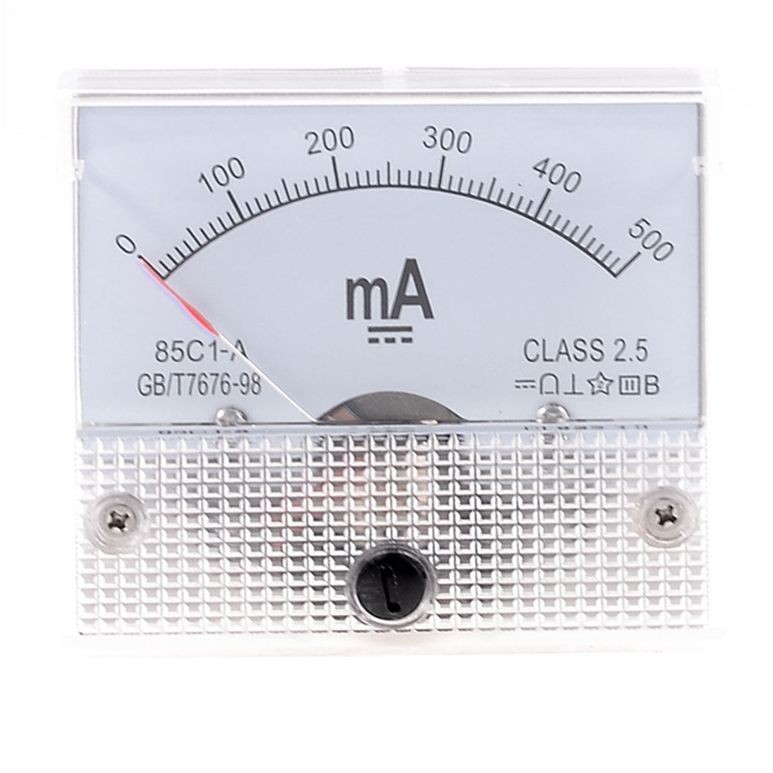 85C1-A 2.5 Accuracy DC 0-500mA Analog Panel Meter Ammeter Amperemeter