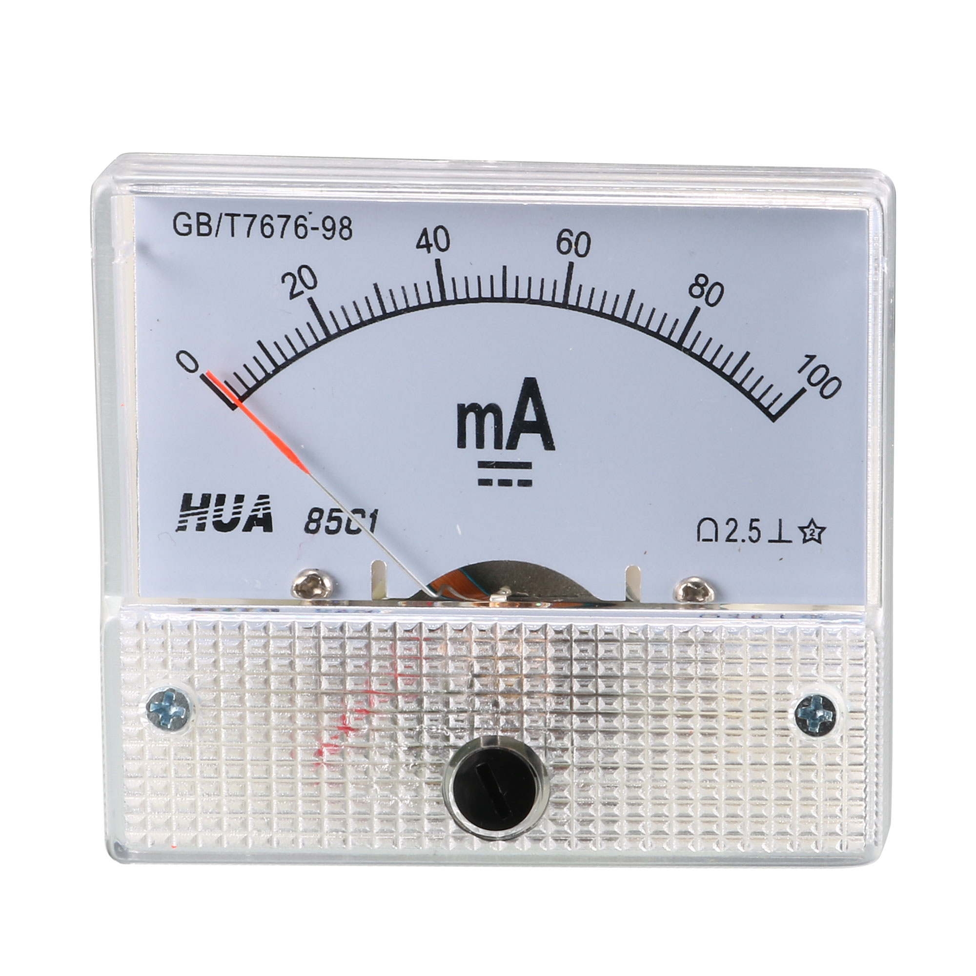 Class 2.5 Accuracy DC 0-100mA Analog Current Panel Meter Ammeter 85C1-mA