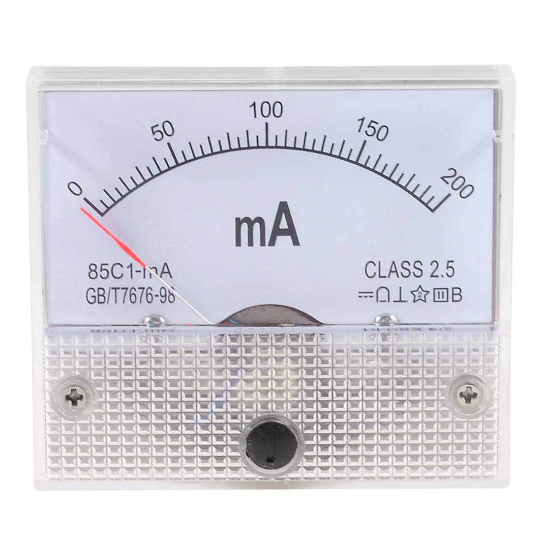 Class 2.5 Accuracy DC 0-200mA Analog Current Panel Meter Ammeter 85C1-mA