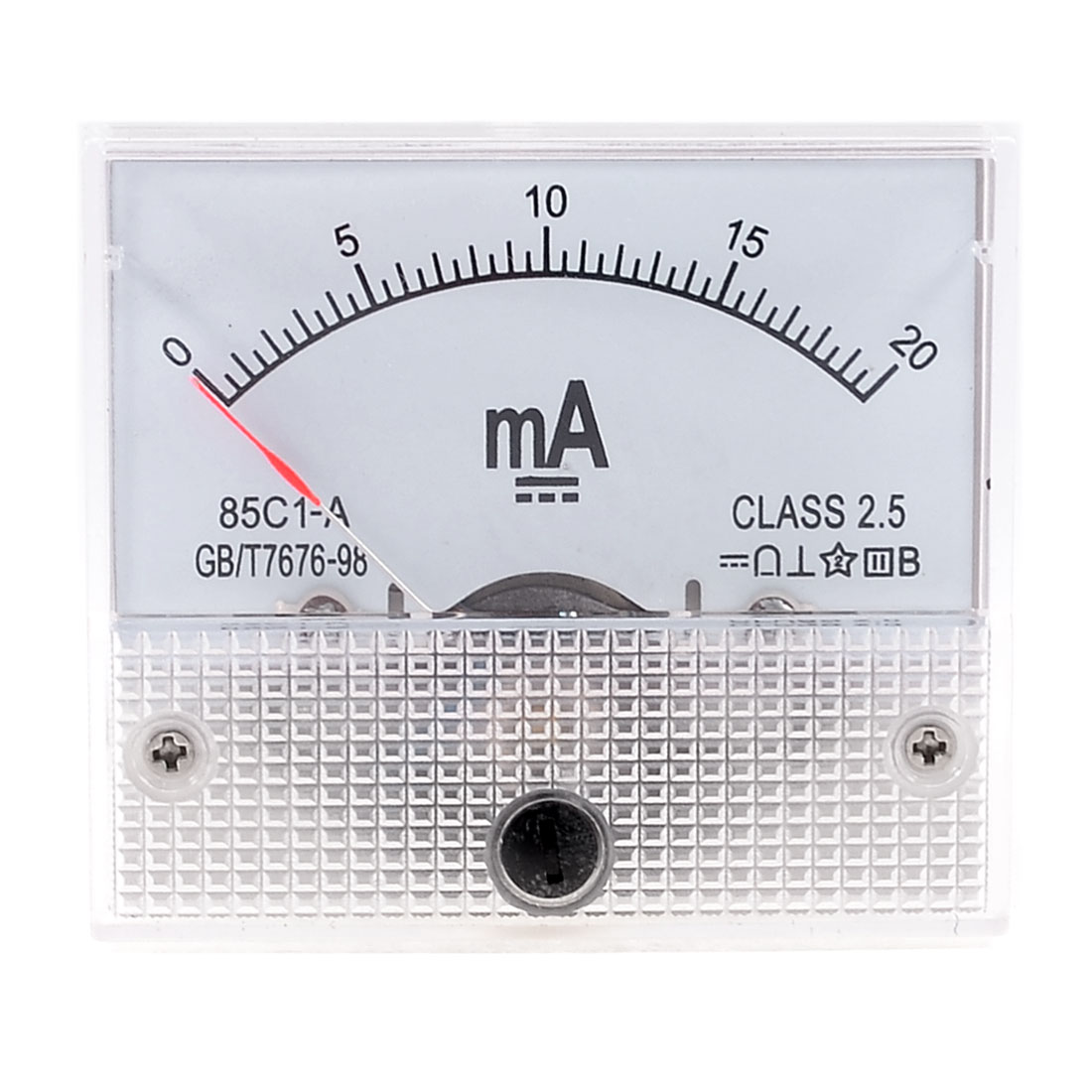 DC 0-20mA Analog Current Panel Meter Ammeter 85C1-A