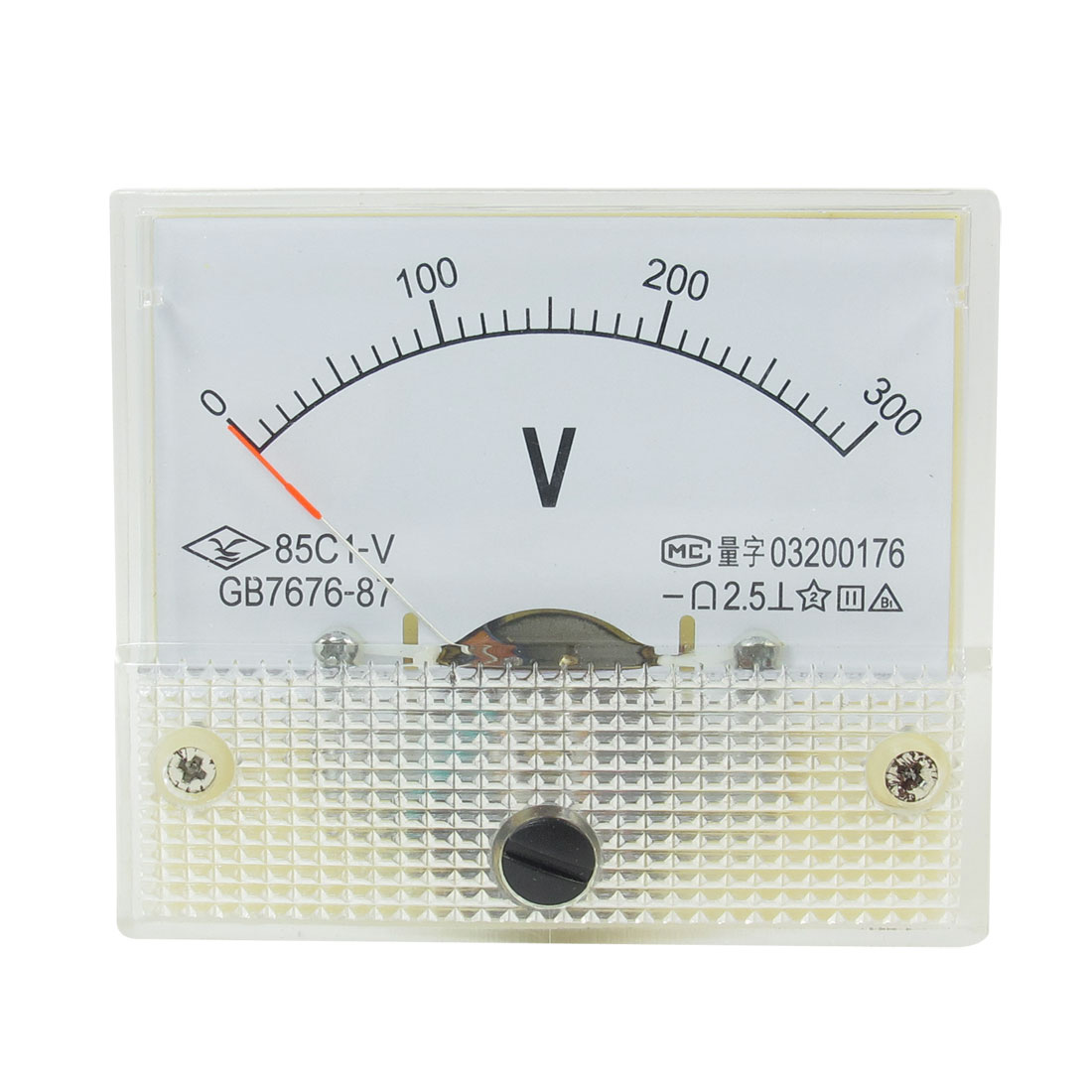 64mm x 56mm Dial Panel Gauge Voltage Voltmeter DC 0-300V 85C1-V
