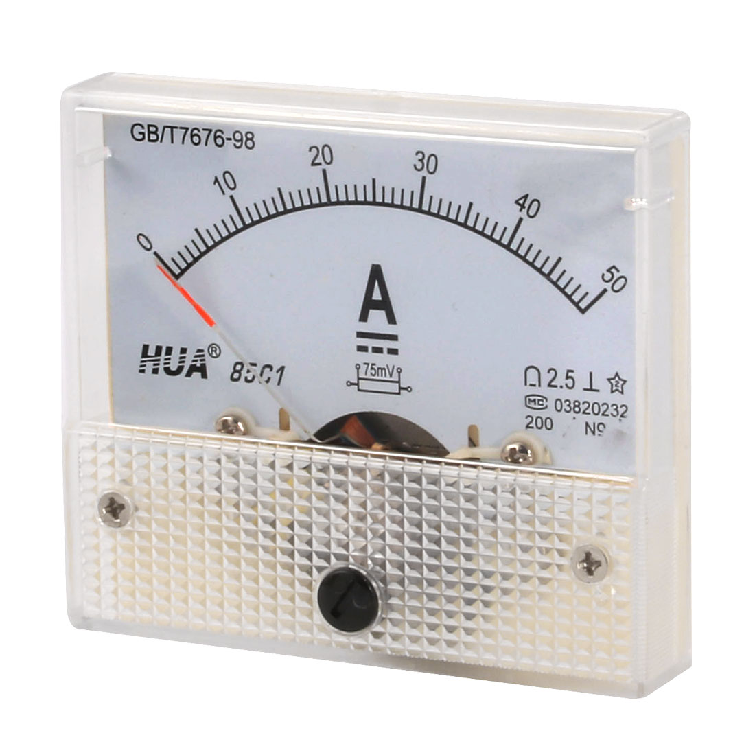 DC 0-50A Current Rectangular Panel Analog Ammeter Measuring Tool 85C1-A