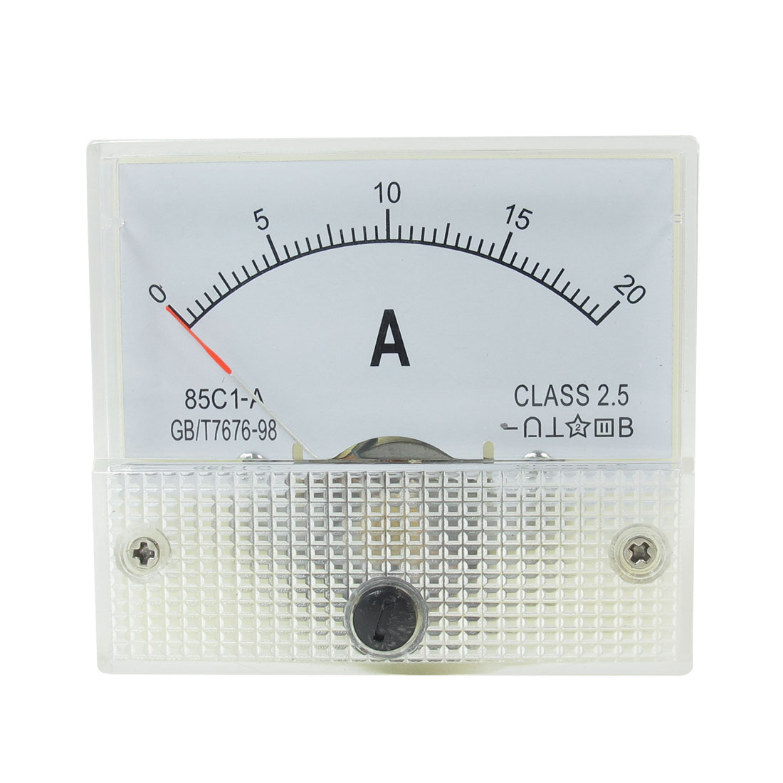 85C1-A Class 2.5 Accuracy DC 0-20A Analog Ammeter Current Panel Meter Gauge Tool