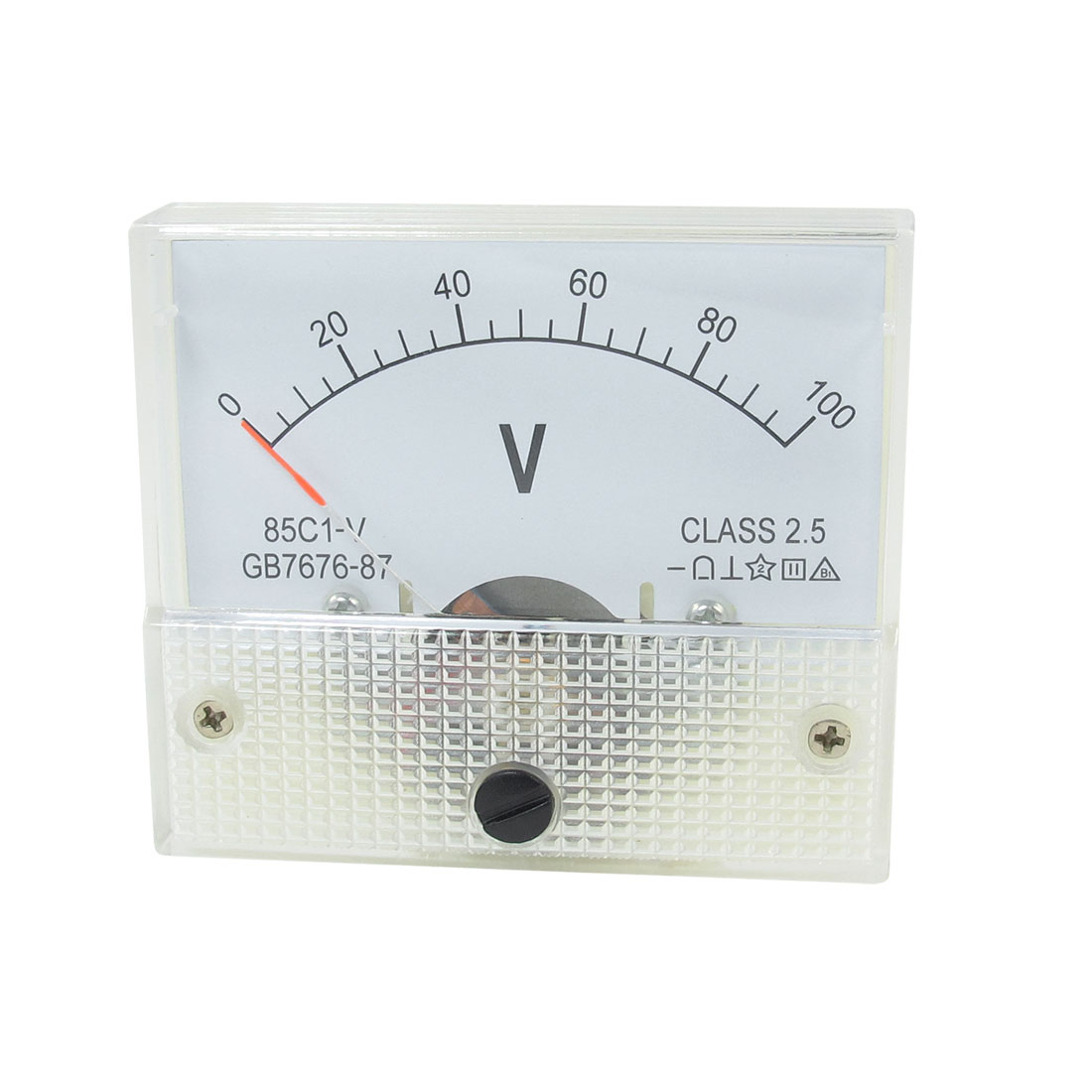 Class 2.5 Accuracy DC 0-100V Panel Gauge Voltmeter Voltage Meter 85C1-V