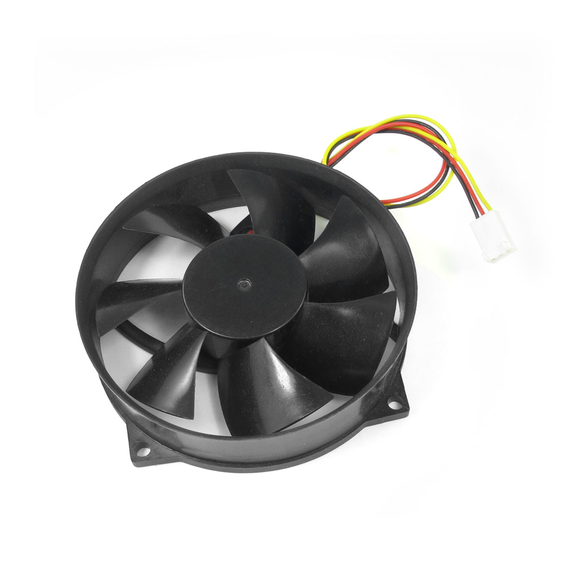 Desktop PC 3 Pin Connector DC 12V 0.18A Plastic Round Cooling Fan