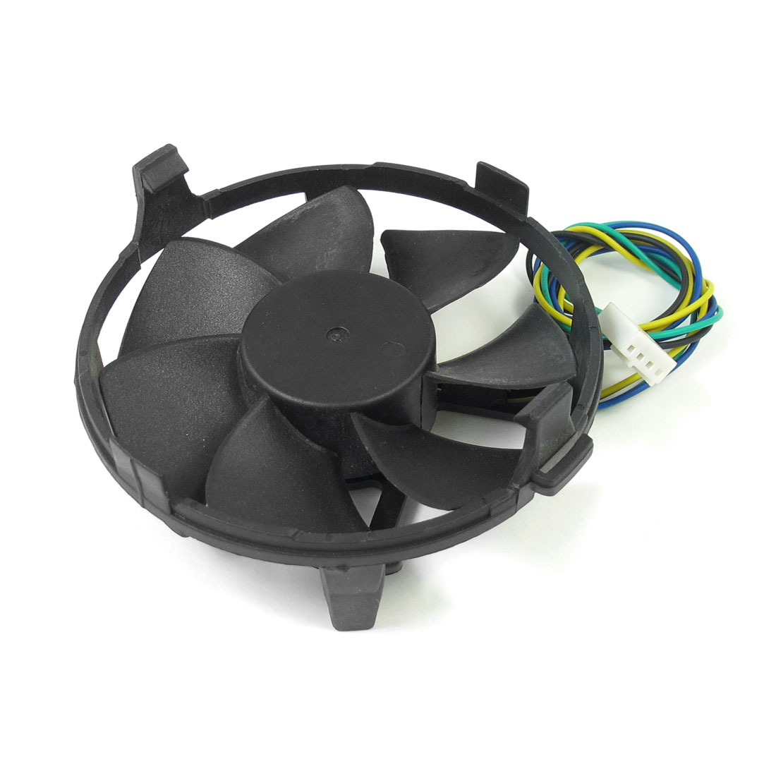Desktop PC 4 Pin Connector DC 12V 0.18A Plastic Round Cooling Fan