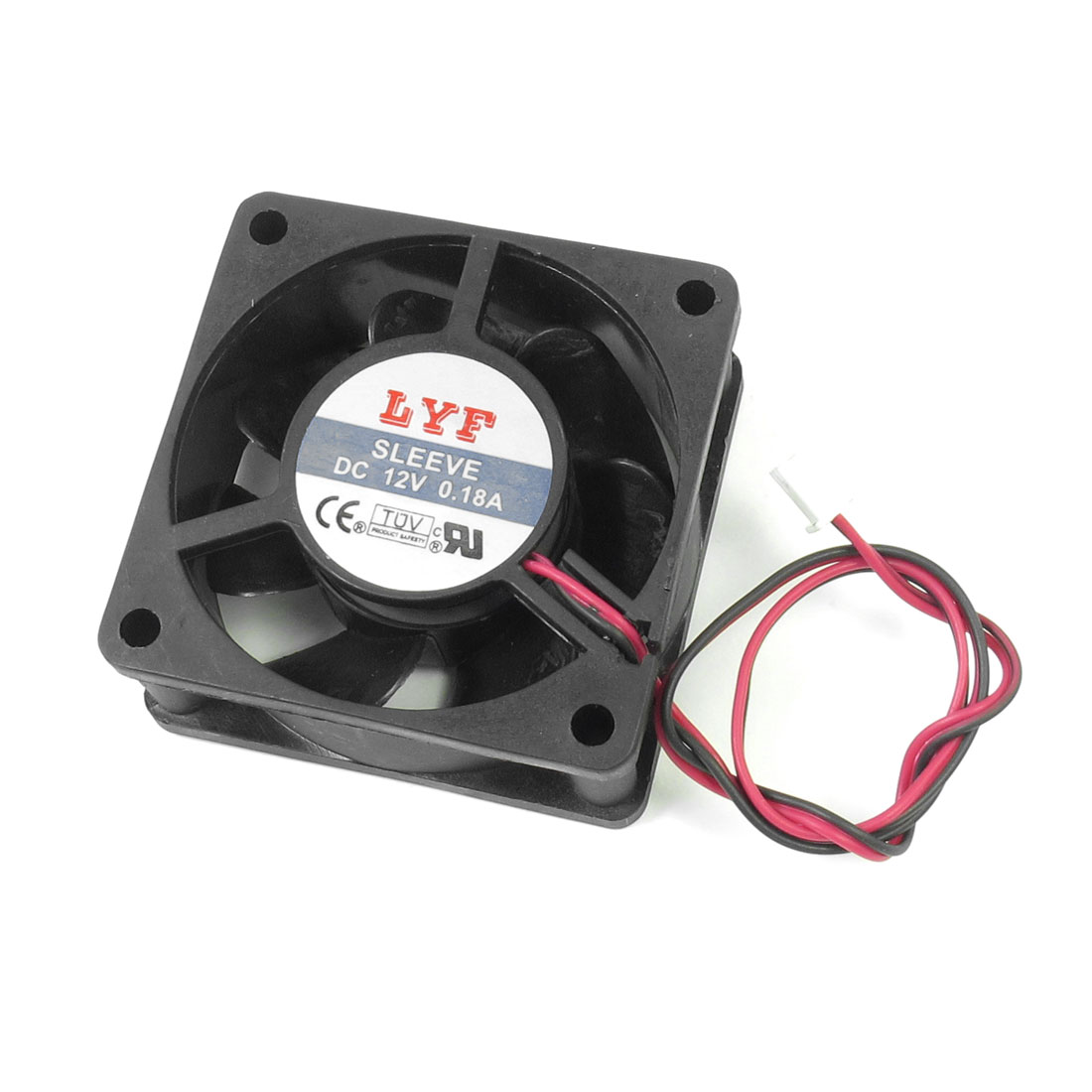 Desktop Computer PC DC 12V 0.18A Cooler Cooling Fan Black 60mm x 60mm