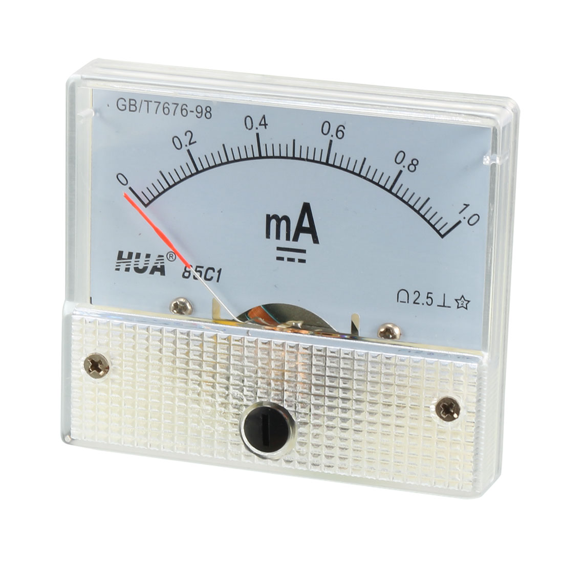 Class 2.5 Accuracy DC 0-1mA Analog Current Panel Meter Ammeter 85C1-mA
