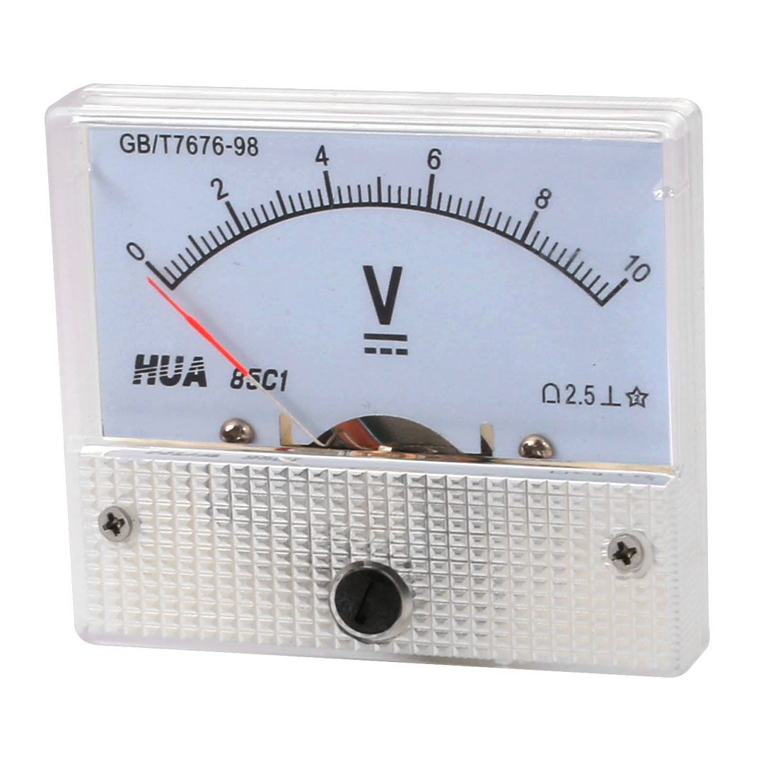 64mm x 56mm Dial Panel Gauge Voltage Voltmeter DC 0-10V 85C1-V