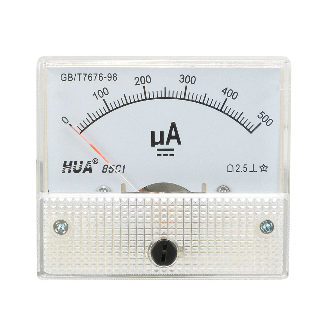 DC 0-500uA Rectangle Panel Analog Meter Ammeter 85C1-uA