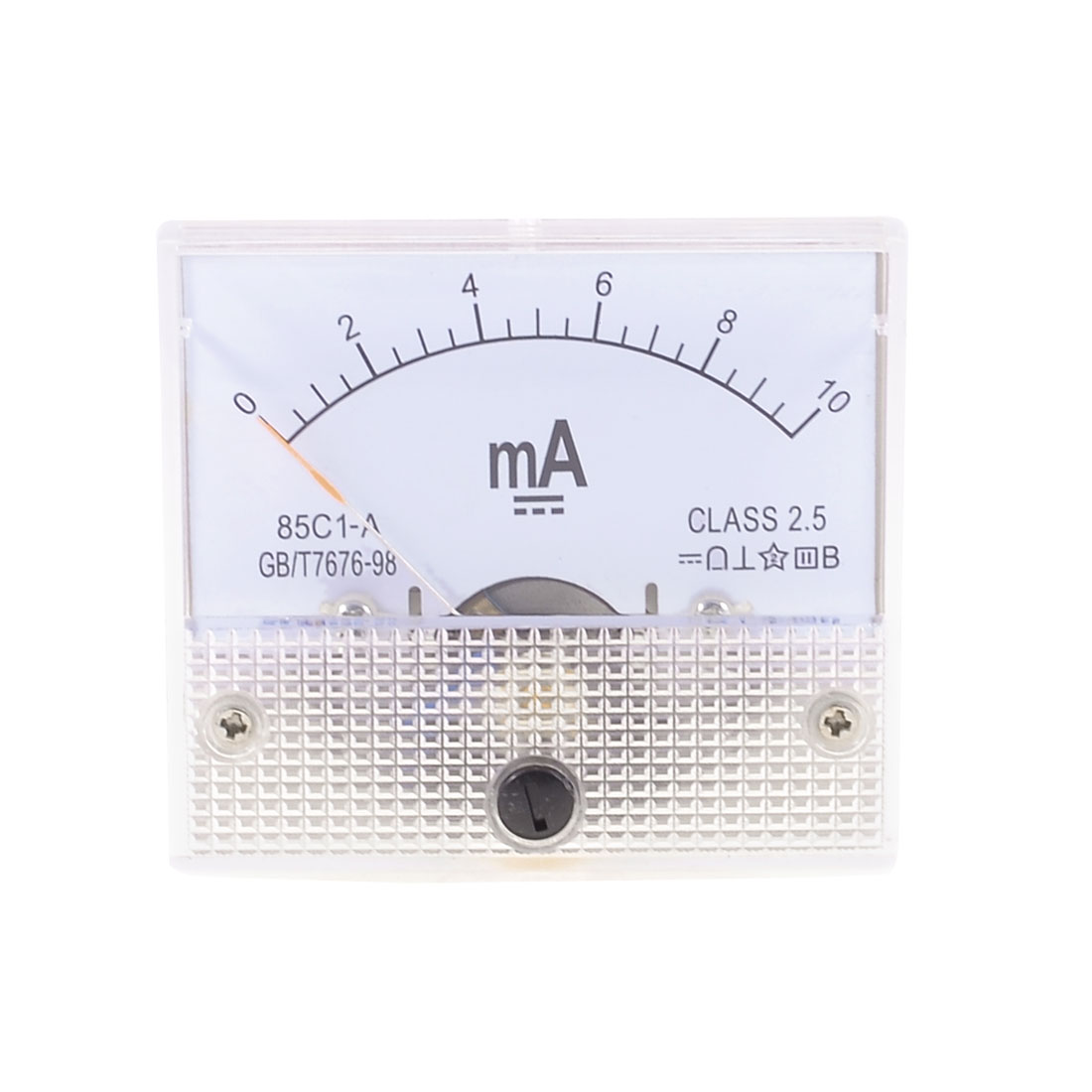 Class 2.5 Accuracy DC 0-10mA Analog Current Panel Meter Ammeter 85C1-A