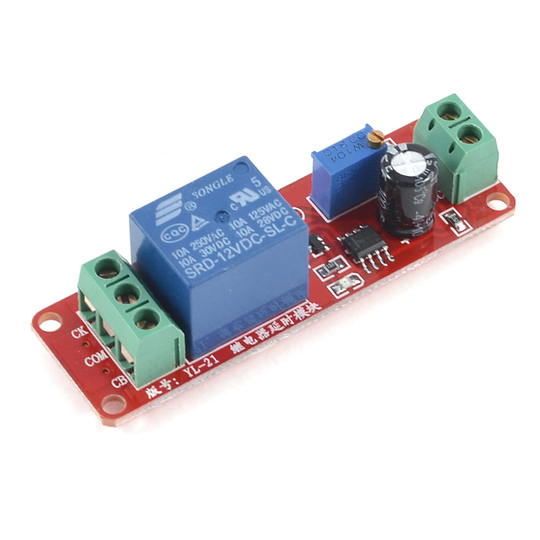 DC 12V LED Indicator Triggered NC Time Delay Relay Actuation Module