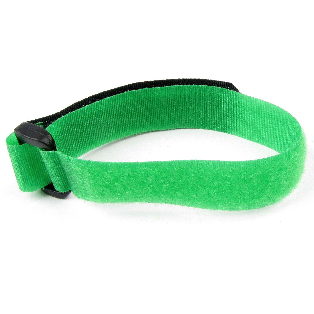 """Green Black Hook Loop Closure Battery Strap Band 12.2"""" Long"""