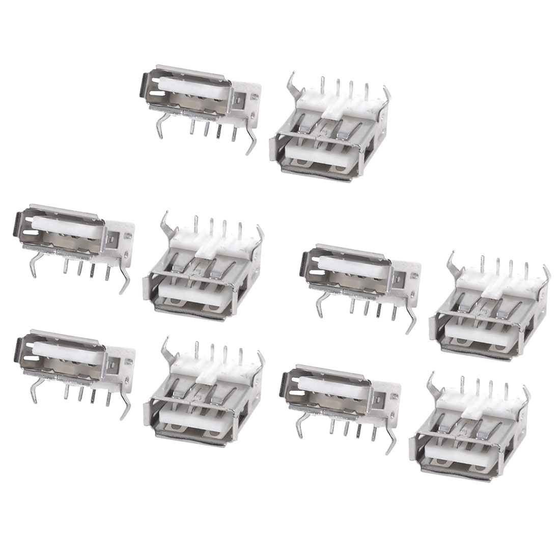 USB Type A Standard Port Female Solder Soldering Jacks Connector 10pcs