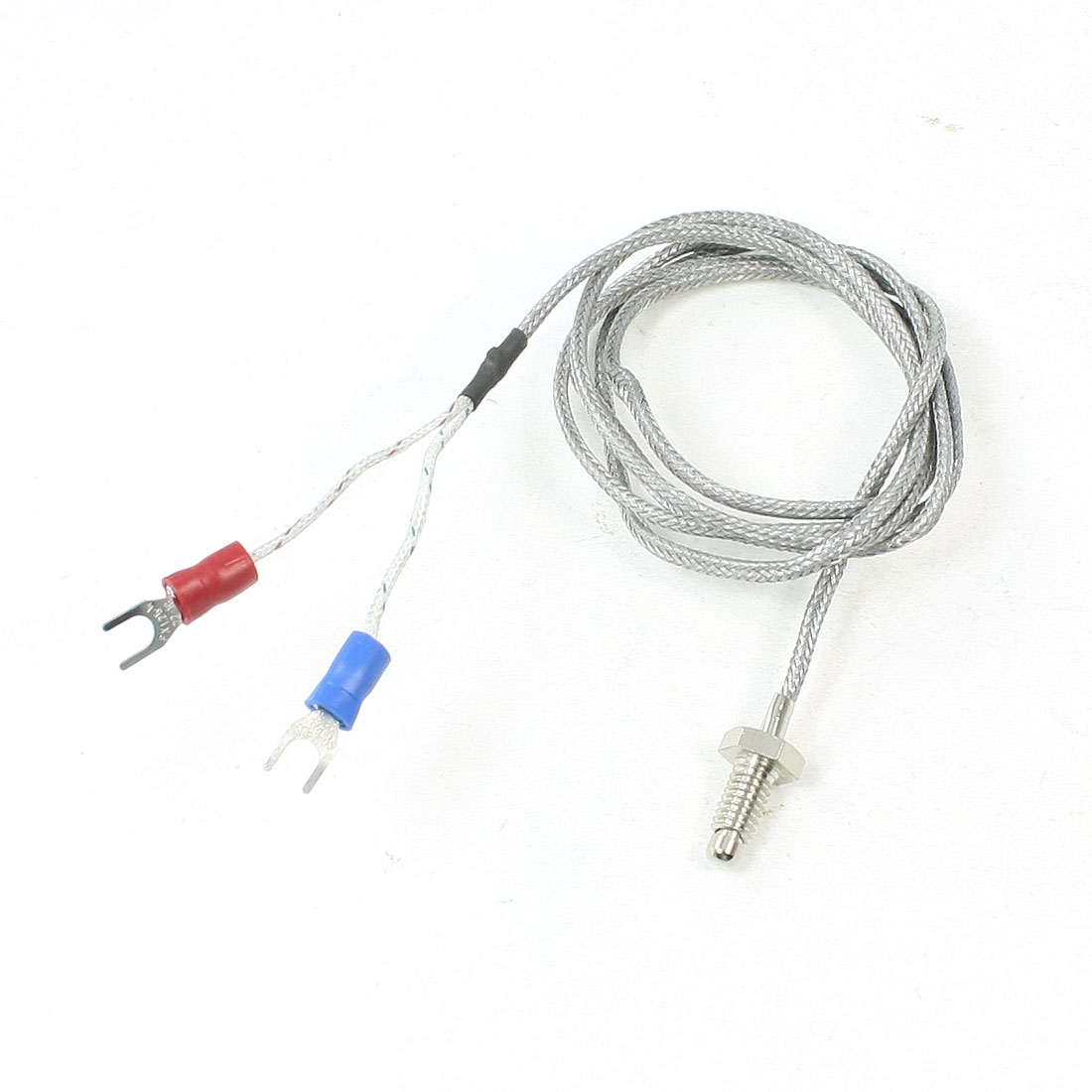 6mm Thread K Type 800C Thermocouple Temperature Probe Sensor 3.2ft Long
