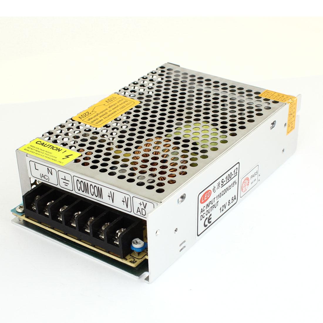 AC 110/220V DC 12V 8.5A 100W Switch Power Supply Driver for LED Light Strip