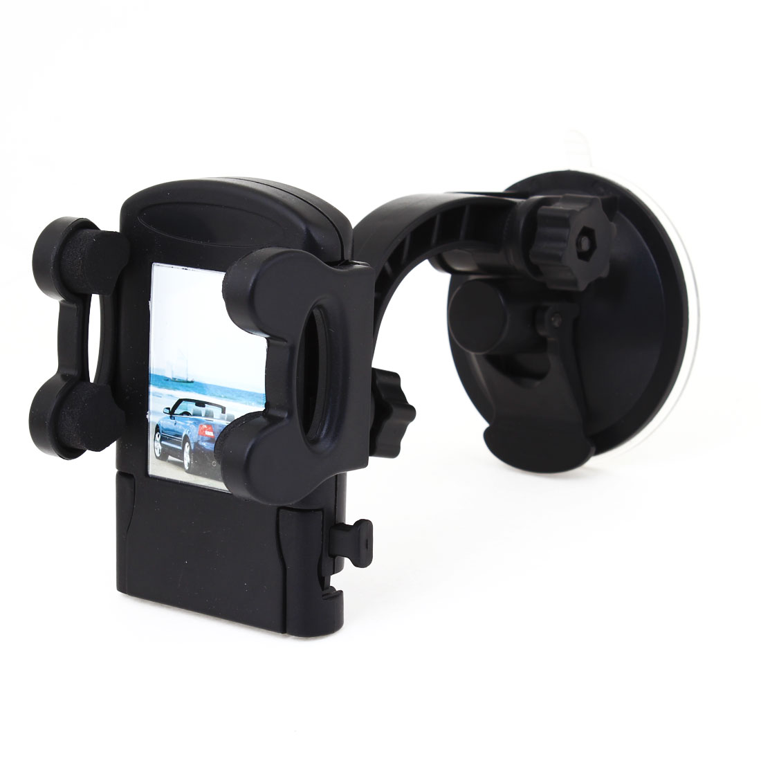 Auto Car Suction Cup Mounting Black Plastic Cell Phone MP4 PDA Holder Supporter