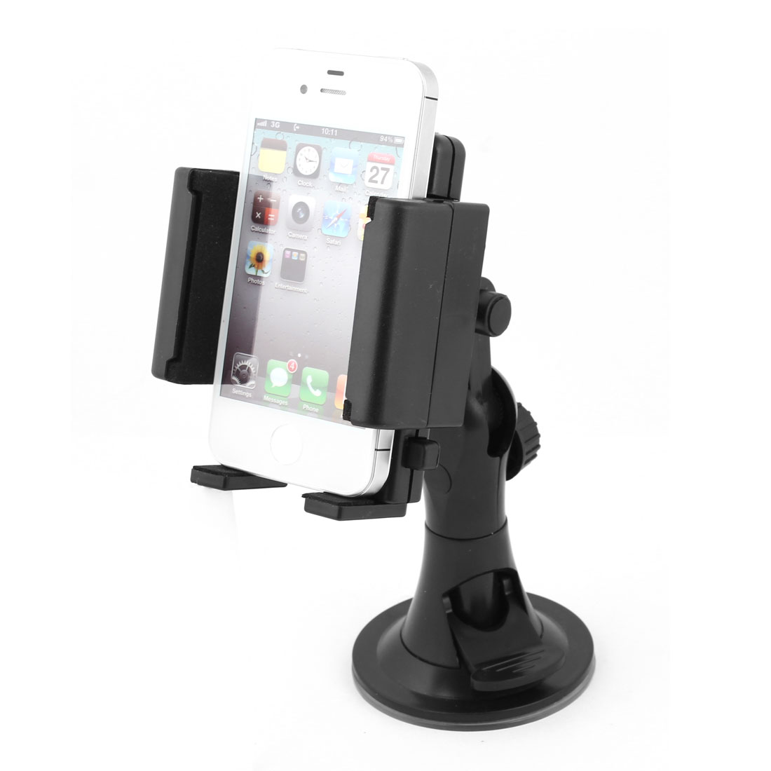 Car Adjustable Plastic Claw Cell Phone MP3 MP4 Holder Rotating Bracket Stand
