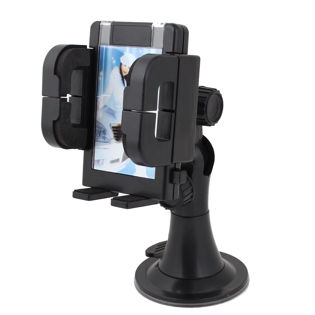 Car Vehicle Windscreen Mount Suction Cup Base Black Plastic Cell Phone Holder