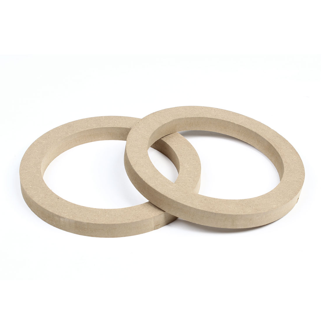 "2 Pcs Universal Khaki 5.6"" Wooden Speaker Spacers 18mm Depth for Auto Car"