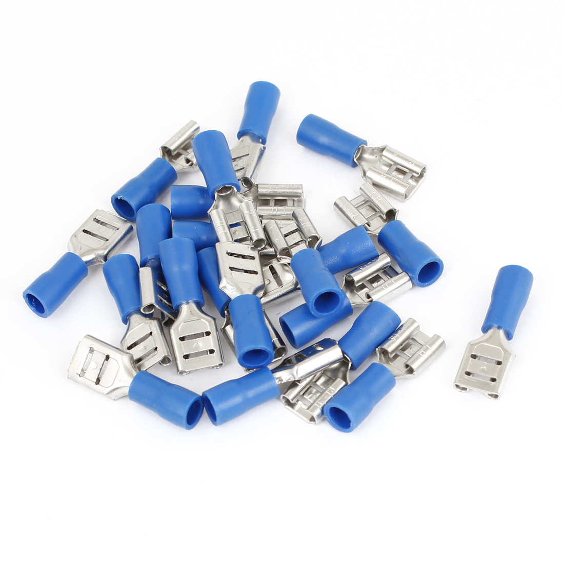 20 PCS FDD2-250 Blue Pre Insulated Female Type Spade Crimp Connectors