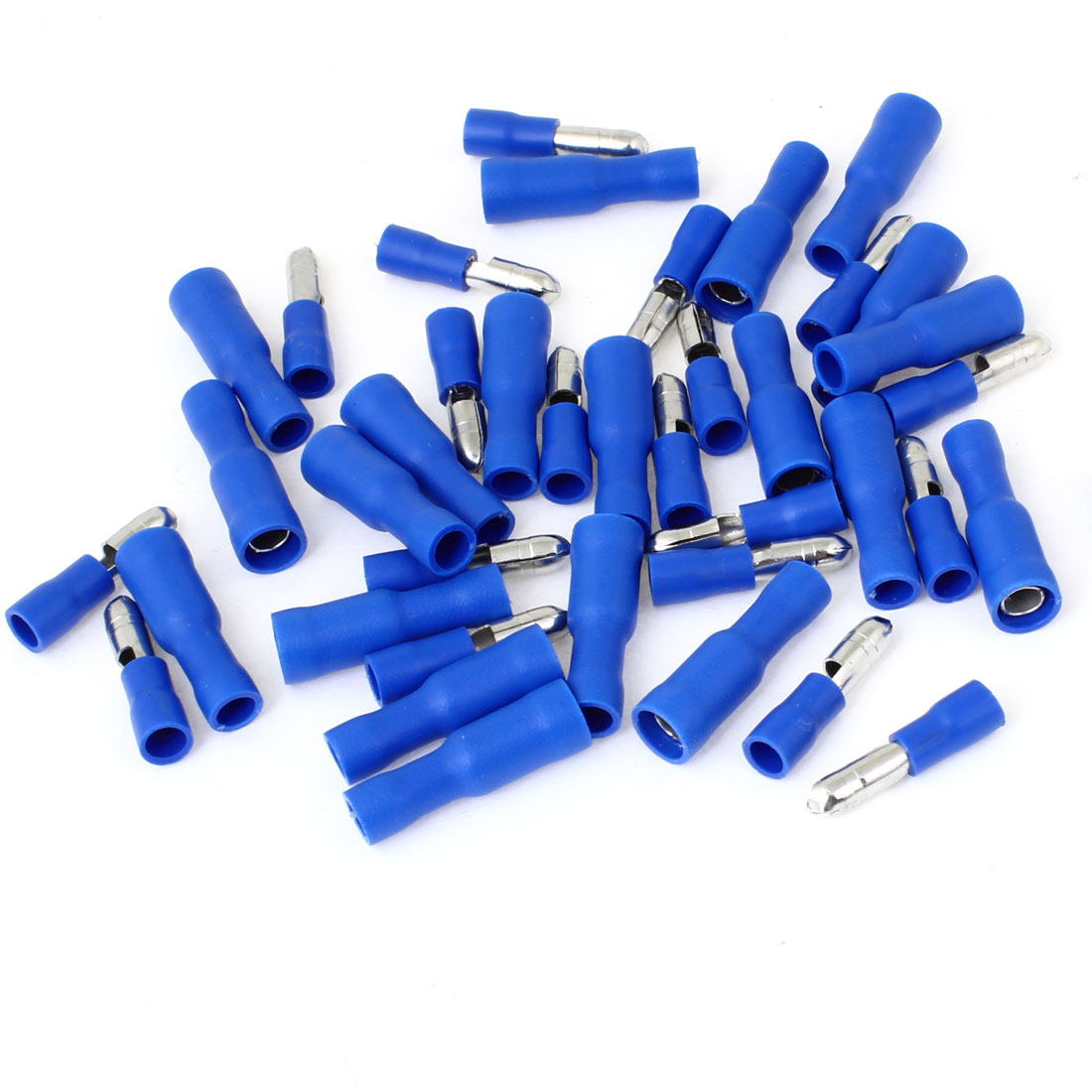 20 Pcs FRD2-156 Blue Male Female Type Fully Insulated Sleeve Crimp Terminals