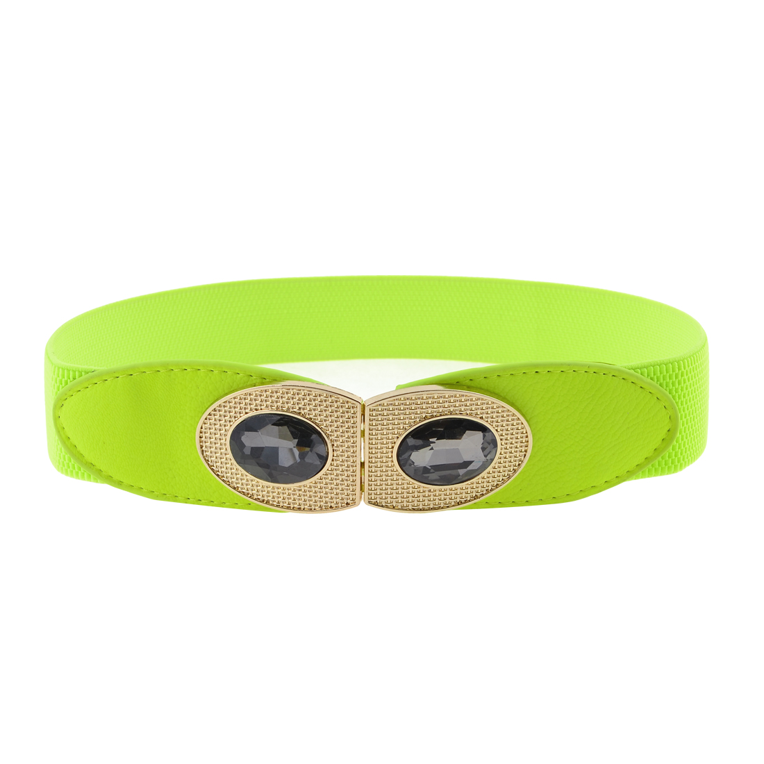 Lady Yellowgreen Eye Design Metal Buckle Stretchy Cinch Waist Belt