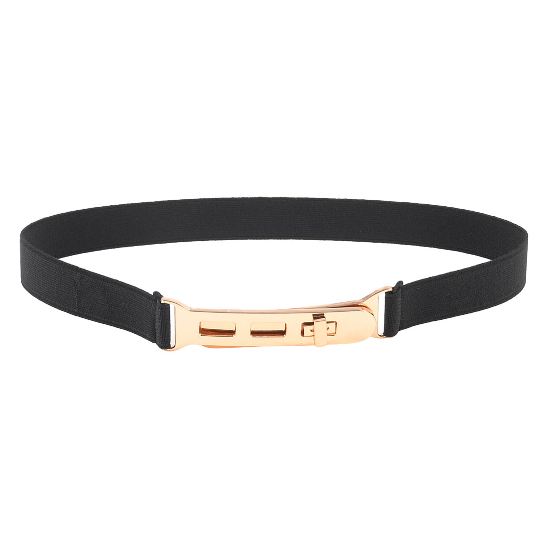 Black Elastic Band Slim Stretch Cinch Belt for Girls Ladies Women