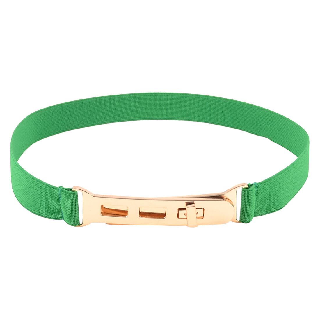 Green Stretch Cinch Waist Belt for Girls Ladies Women