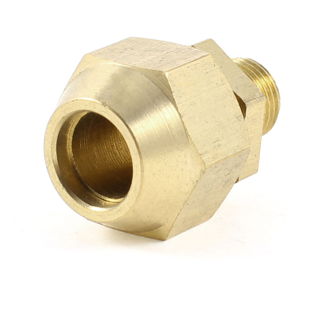 "10mm x 1/8"" PT Male Threaded Metal Adapter Hose Quick Joint Connector Gold Tone"