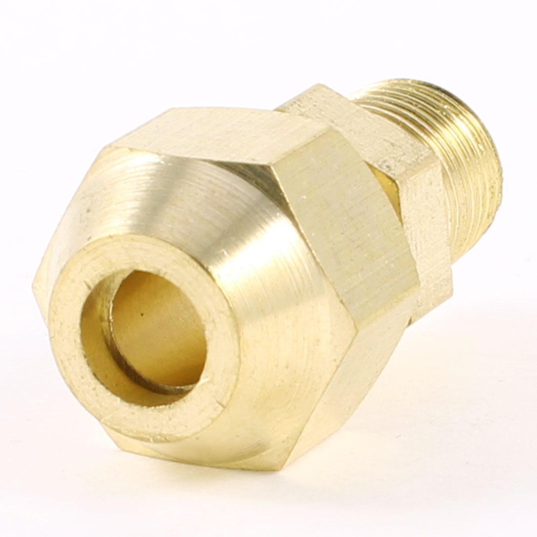 "6mm x 1/8"" PT Male Threaded Metal Adapter Hose Quick Joint Connector Gold Tone"