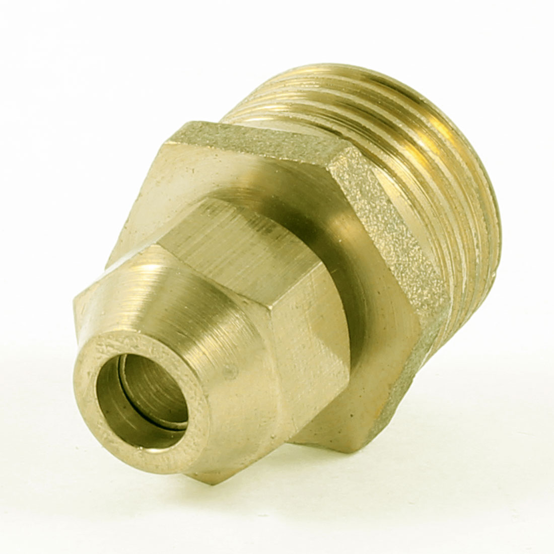 "1/2"" PT Male Threaded Hex Bushing Hydraulic Fitting Gold Tone for 6mm Tube Pipe"