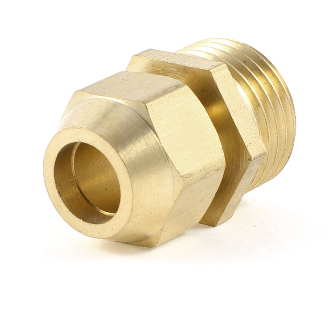 "1/2"" NPT Male Threaded to 10mm Piping Air Pneumatic Coupler Connector Gold Tone"