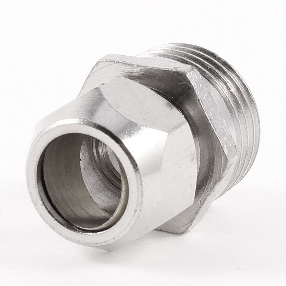 "1/2"" PT Male Threaded Hex Bushing Hydraulic Quick Adapter for 12mm Tube Pipe"