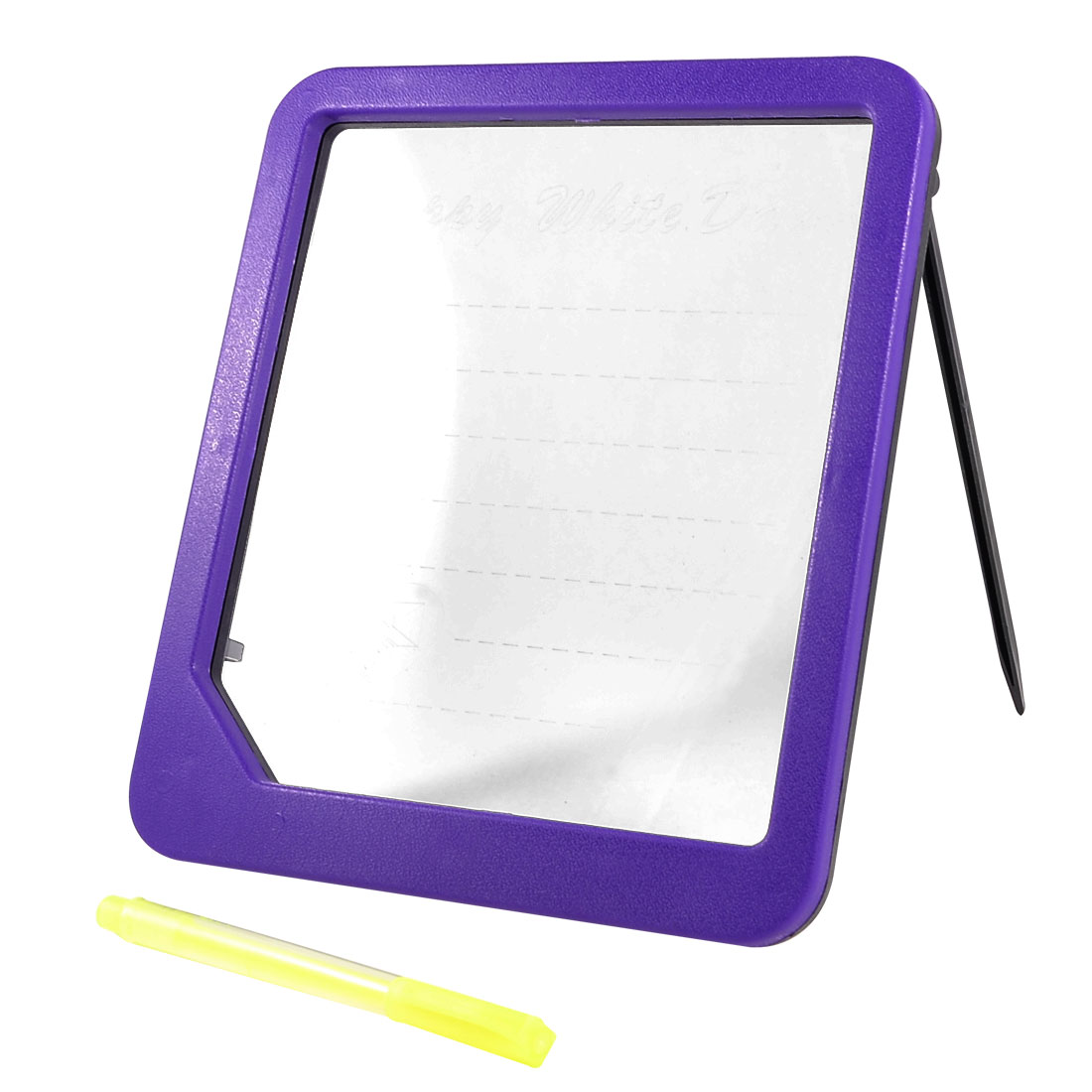 Purple Plastic Frame Magic Glow LED Writing Board w Marker Pen