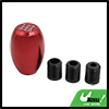 Car Universal 5 Speed Manual Gear Shift Lever Knob Stick Shifter Burgundy