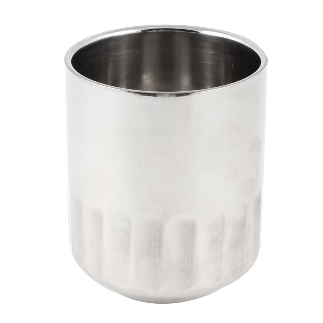 "Silver Tone Stainless Steel 260ml Capacity 3.1"" Height Water Drinking Cup Mug"