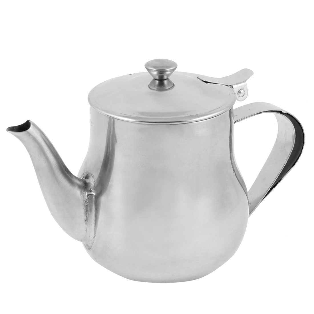 130Z Capacity Pitcher Shaped Tea Kettle Teakettle Silver Tone