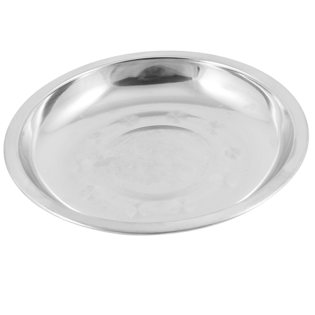 Camping 17.8cm Dia Stainless Steel Tableware Dinner Plate Food Container
